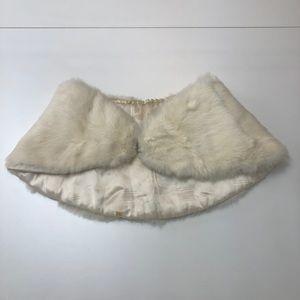 Genuine rabbit fur winter stole wrap